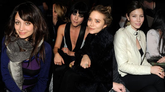 Photos of Justin Timberlake, Jessica Biel, Mary Kate Olsen, and Nicole Richie at New York Fall Fashion Week 2010-02-18 06:00:00