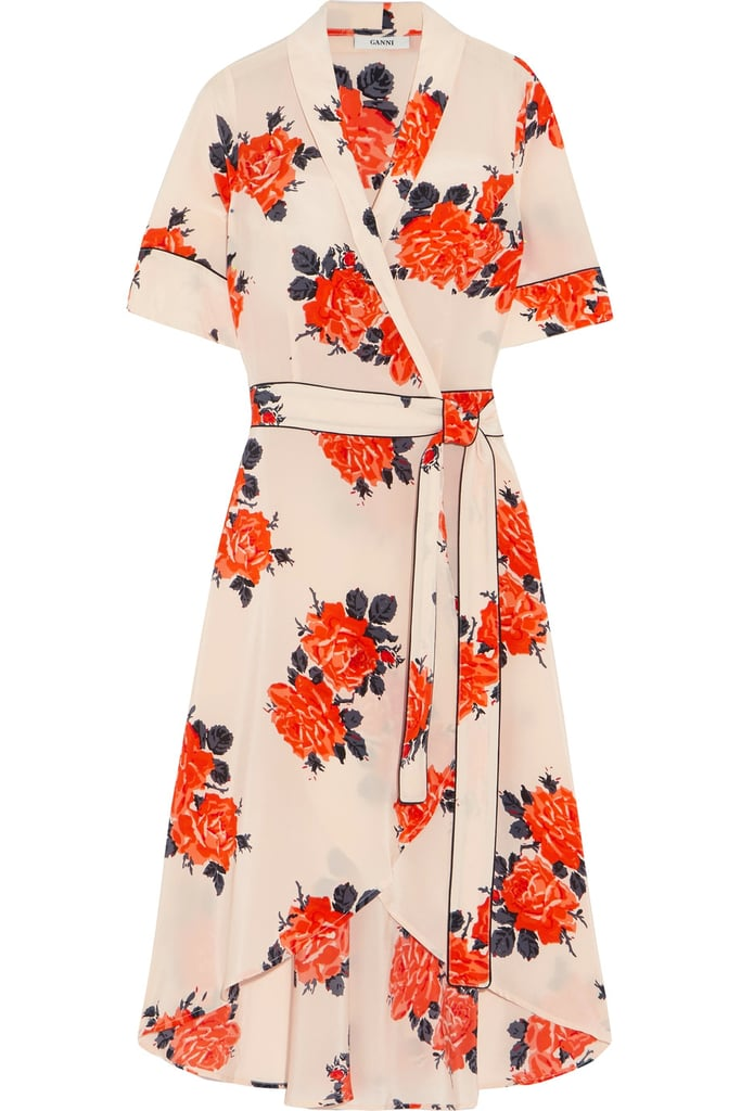 Here's a dress that'll perk everyone up at the office. The floral print on this Ganni wrap dress ($440)gives a hint of Spring vibes.