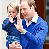 When William and George Matched on Their Way to Meet Baby Charlotte