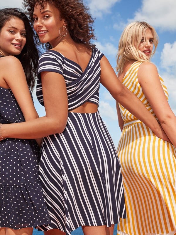 The Striped Fit-and-Flare Dress