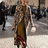 Style Your Leopard-Print Coat With: A Long Dress and Boots