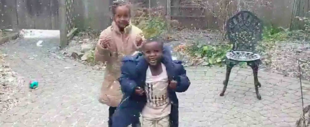 Refugee Children See Snow Fall For the First Time