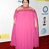 Opting For a Pink Michael Costello Gown