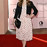 Dreama Walker wore a printed dress at The Hollywood Reporter's Power 100: Women in Entertainment breakfast in LA.