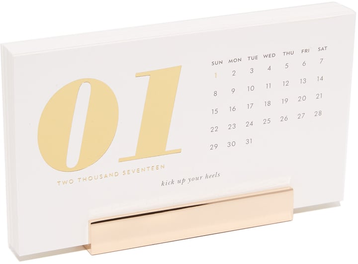 Kate Spade 12-Month Desktop Calendar ($20)
