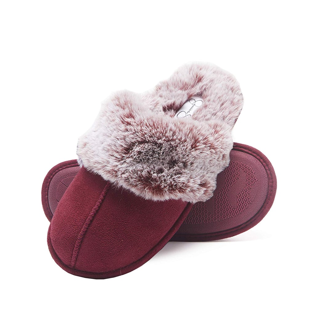 Jessica Simpson Comfy Faux Fur Womens House Slippers