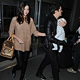 New mom Miranda Kerr with Orlando Bloom and baby son Flynn.