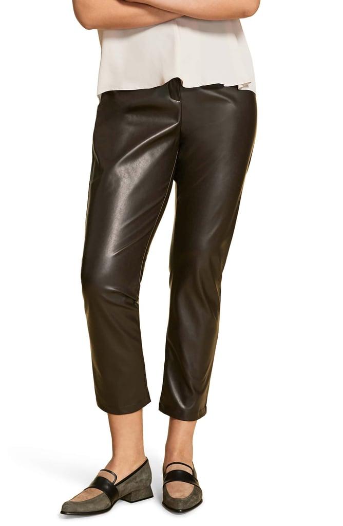 Marina Rinaldi Faux Stretch Leather Pants