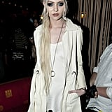 Taylor Momsen attended the NYFW Guns N' Roses show.