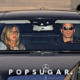 Jennifer Aniston and Justin Theroux went shopping.