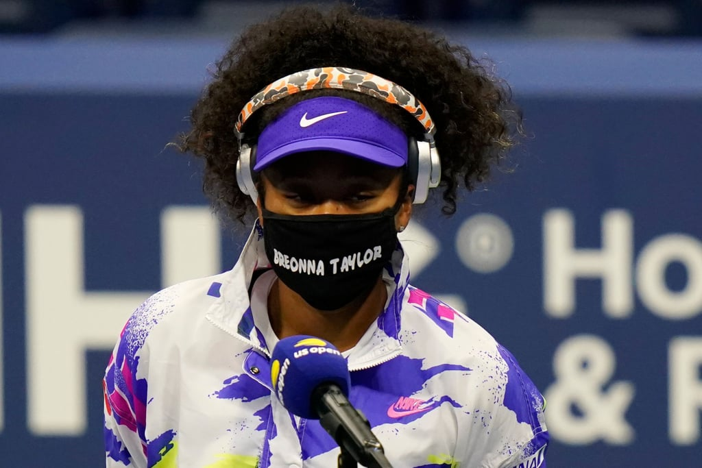 Naomi Osaka Wears a Breonna Taylor Mask For Round 1 of the US Open