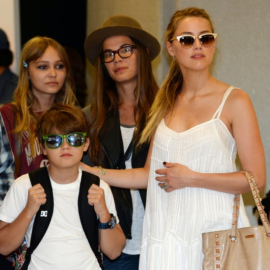 Johnny Depp and Amber Heard With His Kids at Tokyo Airport