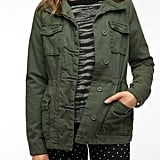 The military trend isn't going anywhere, so why not indulge the look a little? This Ecote Classic Surplus Jacket ($78) is kind of an army homage staple and will look good on most.