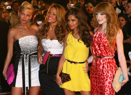 Girls Aloud on the Brit Awards Red Carpet