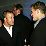 Scott Caan celebrated with Matt Damon during an afterparty for The Bourne Supremacy in July 2004.