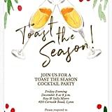 Fluted Flourish Holiday Party Invitation