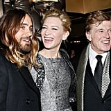 Jared Leto smiled with Cate and Robert.