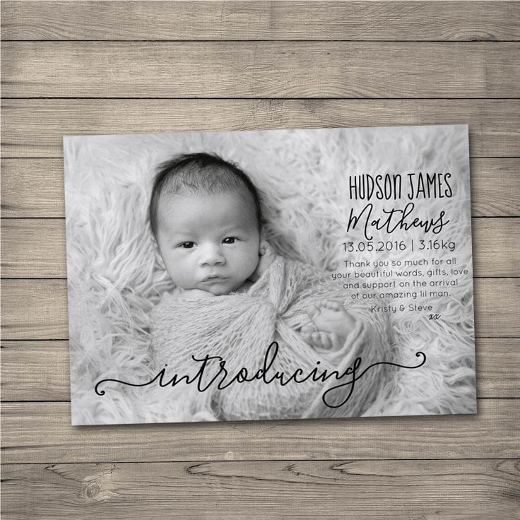 Etsy Birth Announcement Photo Cards – Baby Announcement Cards Etsy