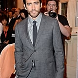 Jake looked handsome in his grey suit at the Prisoners premiere at Toronto International Film Festival this year.
