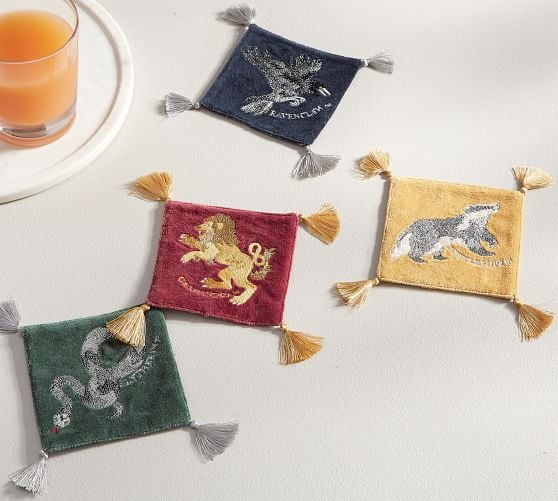 Harry Potter Hogwarts House Crest Tassel Coasters