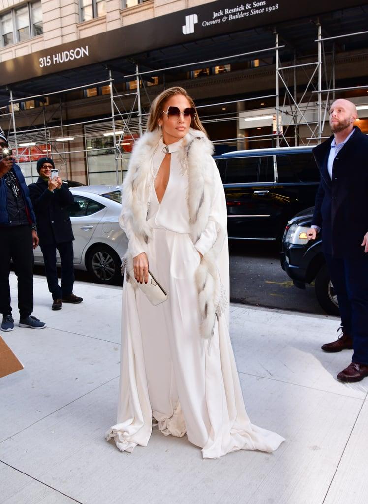 Jennifer Lopez's White Chanel Jumpsuit Dec. 2018