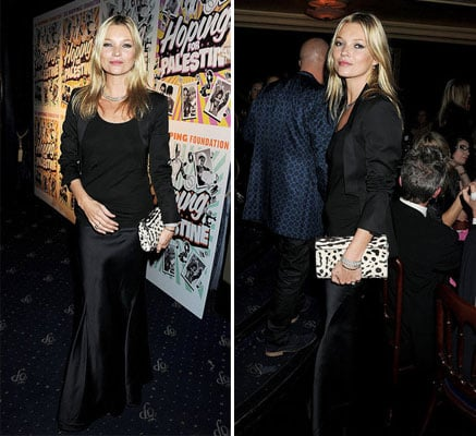 Pictures of Kate Moss in Maxi Skirt and Blazer in London at the Hoping Variety Show: Steal Her Party Style!