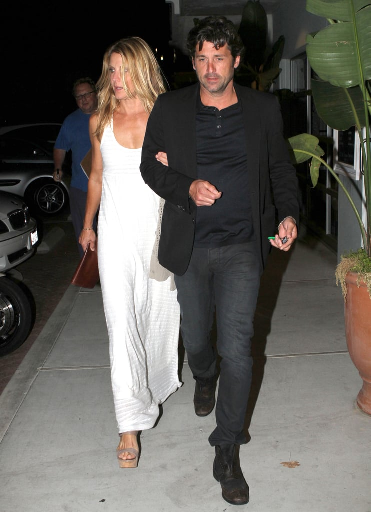jillian and patrick dempsey linked up leaving nobu in malibu patrick dempsey and jillian. Black Bedroom Furniture Sets. Home Design Ideas