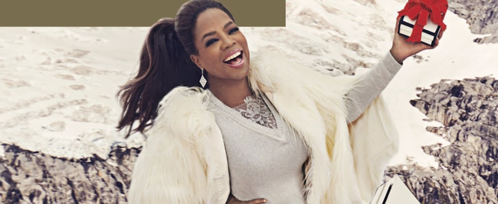 """Oprah's Holiday Outfit Is Definitely Our """"Favorite Thing"""" About Her New Gift Guide"""