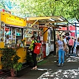 "OK, time to talk about Portland's beloved food carts. With over 500 carts peppered throughout the city — mostly clustered in ""Pods"" — don't blame your taste buds if you have a tough time deciding where to even begin. From Thai and Indian to Mexican, Mediterranean, and American classics, you can eat your way around the globe no matter the time of day."