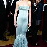 Nicole wearing Chanel at the Oscars in 2004.