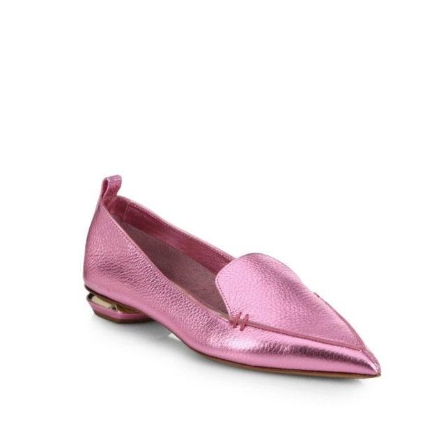 Nicholas Kirkwood Metallic Leather Loafers ($395)