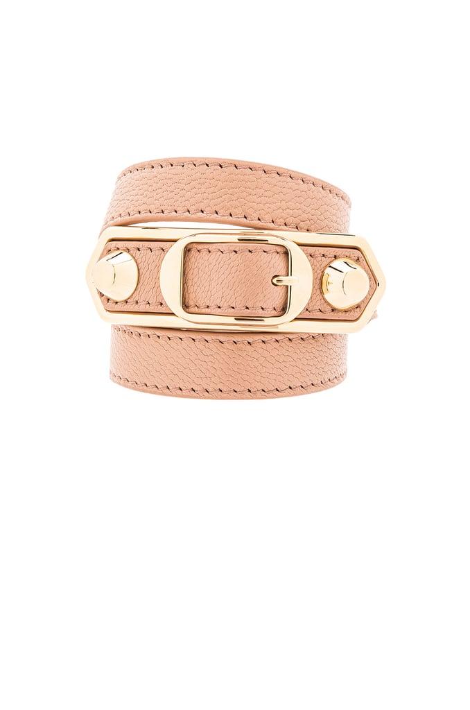 Balenciaga Large Metallic Edge Bracelet ($295)