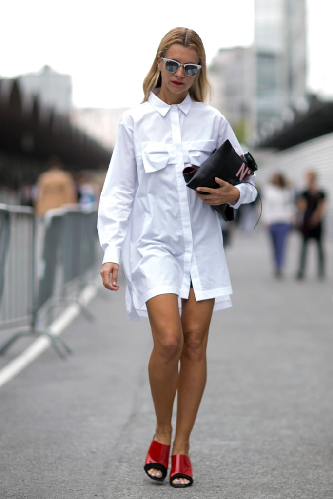 A little Risky Business-themed fashion from Natalie Joos.