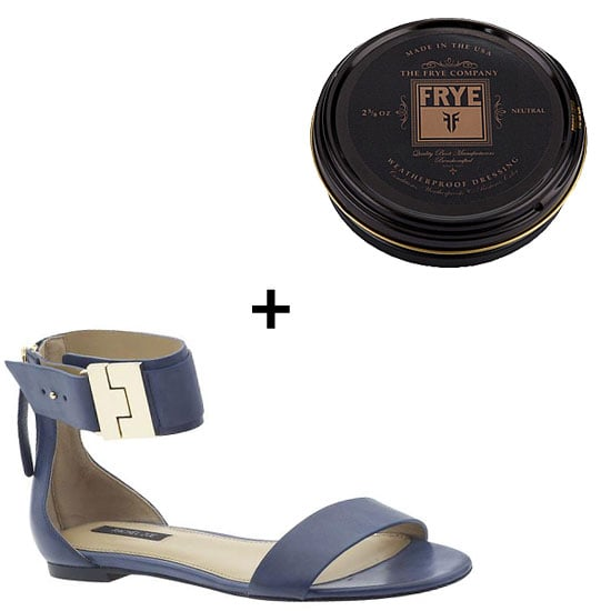 Sole Salvation: Frye Leather Conditioning Cream ($9) How to Use: Make sure your Summer soles stay as crisp as the first day you got them. Translation: prep your leather shoes with waterproofing, in case of those unexpected Spring showers. For these Rachel Zoe Gladys Sandals ($235), a neutral-tinted cream should do the trick.
