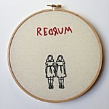 The Shining creepy kids embroidery ($40) will make you want to hide under your sheets.