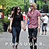 Lily Collins Couples Up With Jamie Campbell Bower in Canada