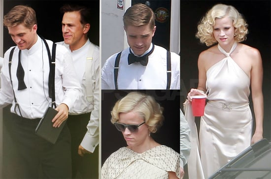 Pictures of Robert Pattinson, Reese Witherspoon and Christoph Waltz On the Water For Elephants Set