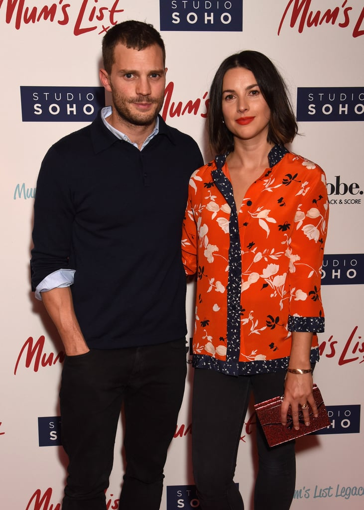 If there's one couple we wish we saw a bit more of, it's Jamie Dornan and Amelia Warner. On Wednesday, the pair made a lovely appearance at the UK premiere of Mum's List. Jamie, who recently wrapped up filming for the Fifty Shades franchise, looked handsome in a blue blazer and jeans while his wife opted for a brighter look with an orange blouse.  This is the first time we've seen Jamie and Amelia together in roughly three months; Amelia was on hand to support her husband at the premiere of Anthropoid in London back in August, and shortly after, Jamie jetted off to Scotland for the annual Alfred Dunhill Links Championship before touching down in LA to promote his show The Fall. Perhaps Amelia's just been busy taking care of their two little girls?