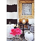 Gold and pink accents make this vignette a head turner.
