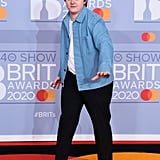Lewis Capaldi on the 2020 BRIT Awards Red Carpet