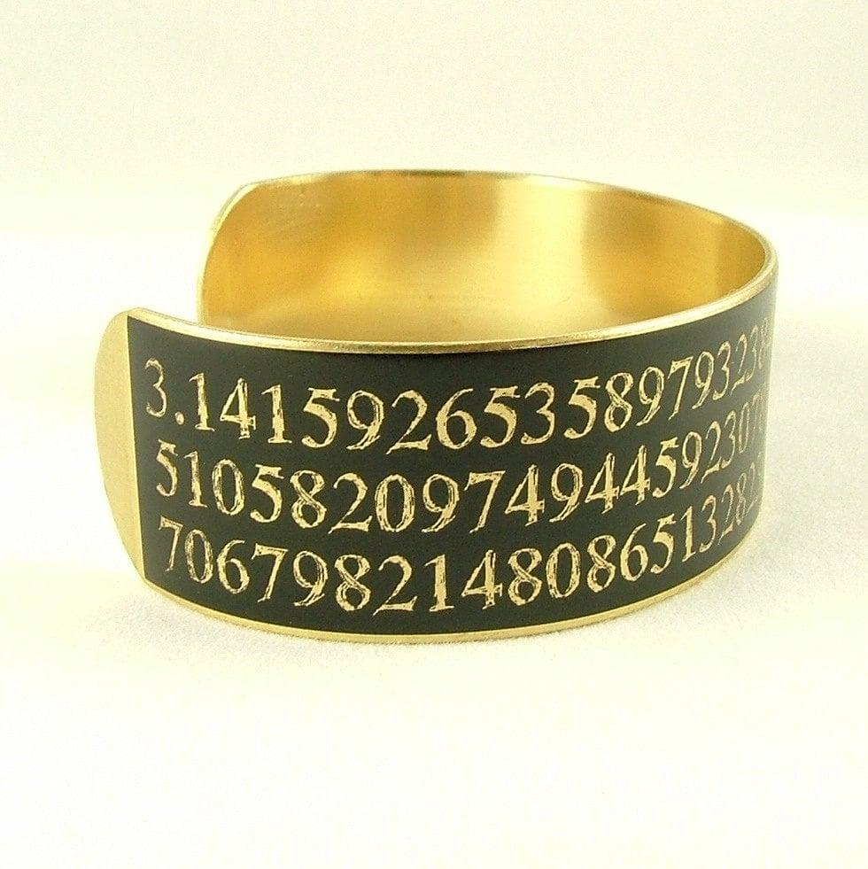 Handmade Copper Pi Cuff Bracelet