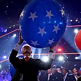 Bill finally got a star-spangled balloon, and from there it was pretty much like watching a baby take their first steps.