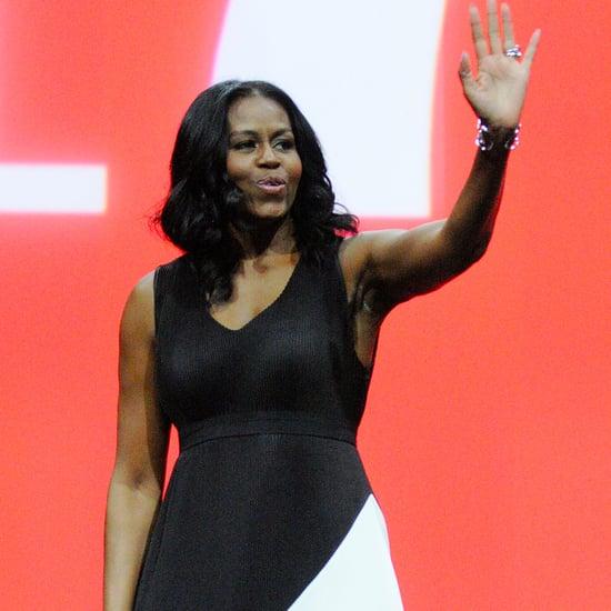 Michelle Obama Colourblock Maxi Dress