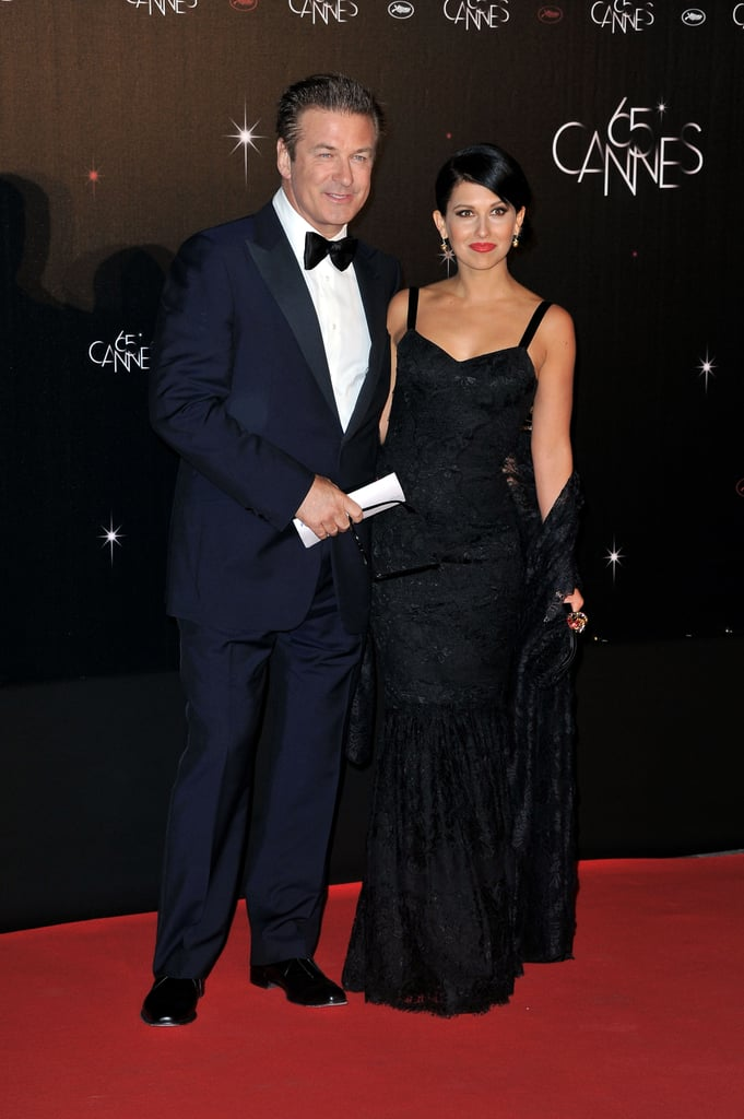 Alec Baldwin posed with new fiancée Hilaria Thomas at the opening night dinner for the Cannes Film Festival.