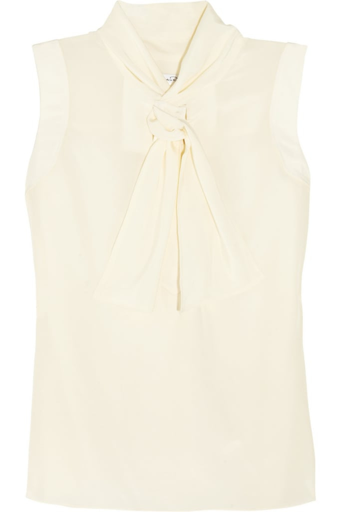Oscar de la Renta for The Outnet sleeveless silk top ($315)