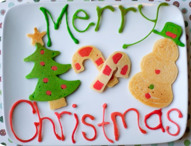 Merry Christmas! Tree and Snowman Pancakes