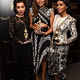 Ruth posed alongside Naomie Harris and Janelle Monáe at the Santa Barbara International Film Festival after her Virtuosos Award win.