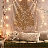 Gold and Silver Christmas Tree Tapestry