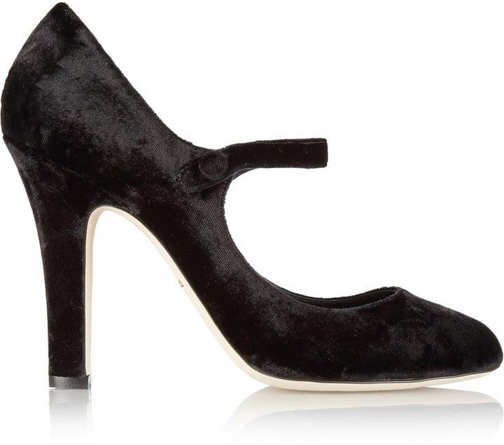 Dolce & Gabbana Velvet Mary Jane Pumps ($795)