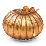 Glass Led Pumpkin